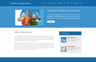 Python, Django and MySQL Project on Online Tourism Portal