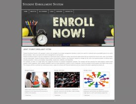 PHP and MySQL Project on Student Enrollment System
