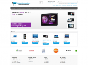 PHP Project on Online Shopping Store with MySQL Database.