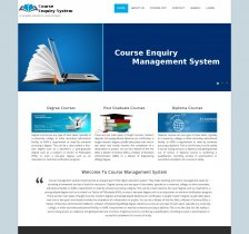 PHP and MySQL Project on Course Enquiry Management System