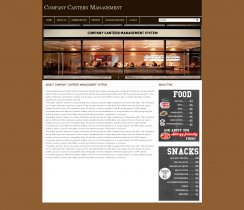 PHP and MySQL Project on Company Canteen Management System