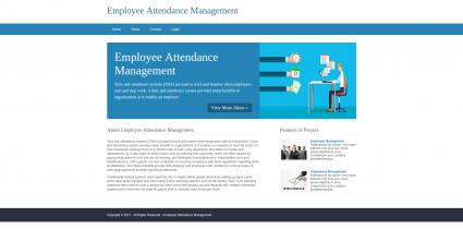 Python, Django and MySQL Project on Employee Attendance Management System