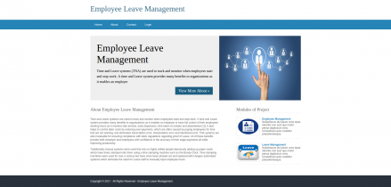 Python, Django and MySQL Project on Employee Leave Management System