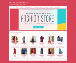 Java, JSP and MySQL Project on Online Fashion Store