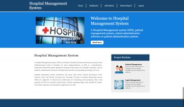 Python Django and MySQL Project on Hospital Management System