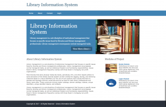 Python, Django and MySQL Project on Library Information System