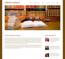 HTML, CSS and JavaScript Project on Library System