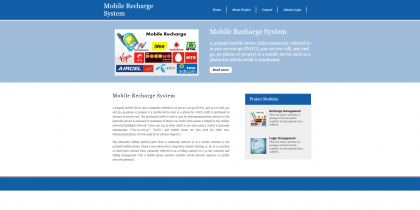 Python Django and MySQL Project on Mobile Recharge System