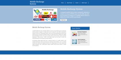 Python Django and MySQL Project on Mobile Recharge System