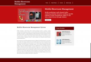 Mobile Showroom Management System - Python Django MySQL Project