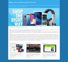 PHP and MySQL Project on Mobile Store Management System