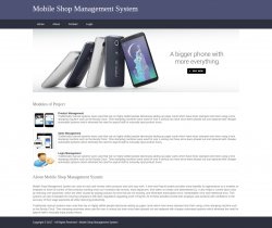 Python, Django and MySQL Project on Mobile Shop Management System