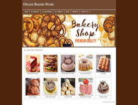 PHP and MySQL Project on Online Bakery Shop