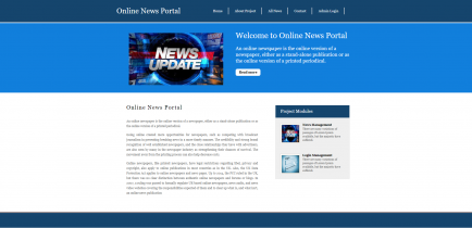 Python, Django and MySQL Project on Online News Portal