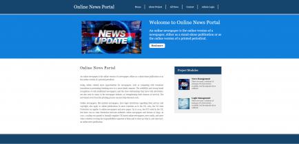 Python, Django and MySQL Project on Online News Portal