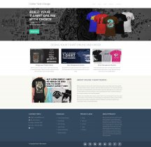 PHP and MySQL Project on Online T-Shirt Designer