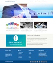 Python Django and MySQL Project on Online Notice Portal