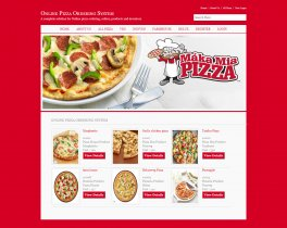 C#, ASP and MySQL Project on Online Pizza Ordering System