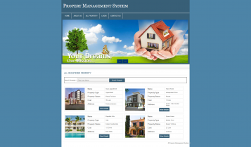 PHP and MySQL Project on Property Management System