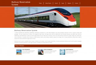 Python, Django and MySQL Project on Railway Reservation System