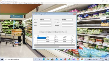 C# Windows Application in Retail Store Billing System