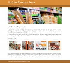 Python, Django and MySQL Project on Retail Store Management System