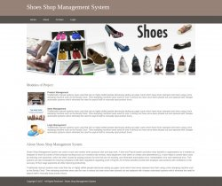 Python, Django and MySQL Project on Shoe Shop Management System