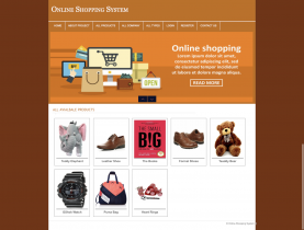 PHP and MySQL Mini Project on Online Shopping System