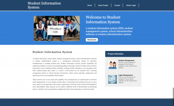 Python, Django and MySQL Project on Student Information System