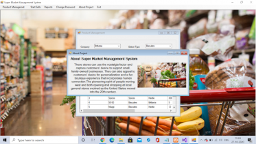 C# Windows Application in Super Market Management System