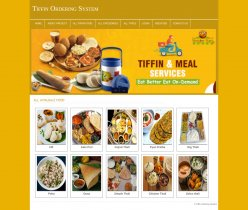 PHP and MySQL Project on Tiffin Ordering System