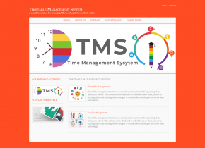 C#, ASP and MySQL Project on Timetable Management System