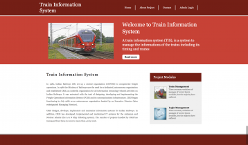 Python, Django and MySQL Project on Train Information System