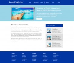 HTML, CSS and JavaScript Project on Travel System