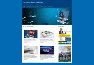 PHP and MySQL Project on University Bulletin Board