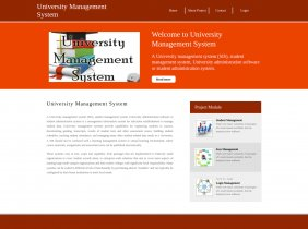 Python, Django and MySQL Project on University Management System