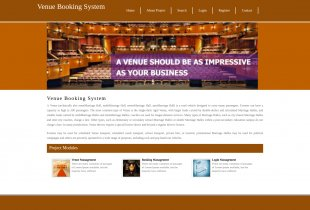 Python Django and MySQL Project on Venue Booking System