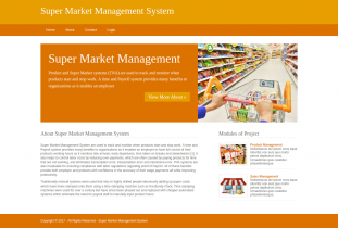 Python, Django and MySQL Project on Super Market Management System