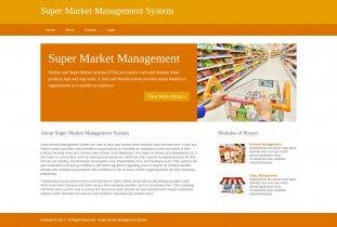 Python, Django and MySQL Project on Super Market Management System
