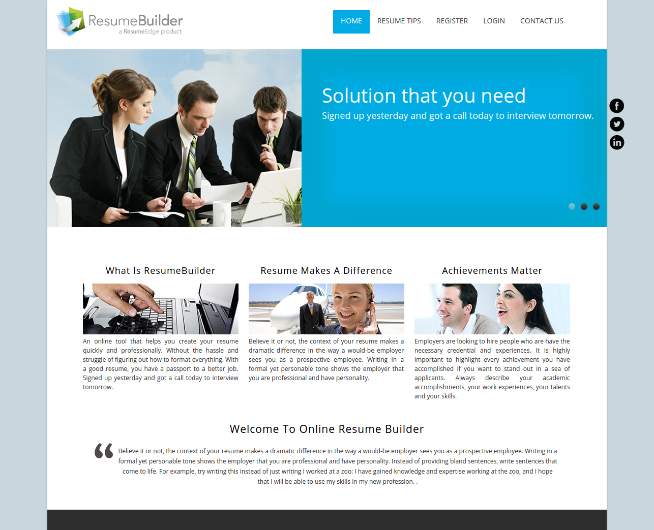 online resume builder dbms advanced and mysql projects