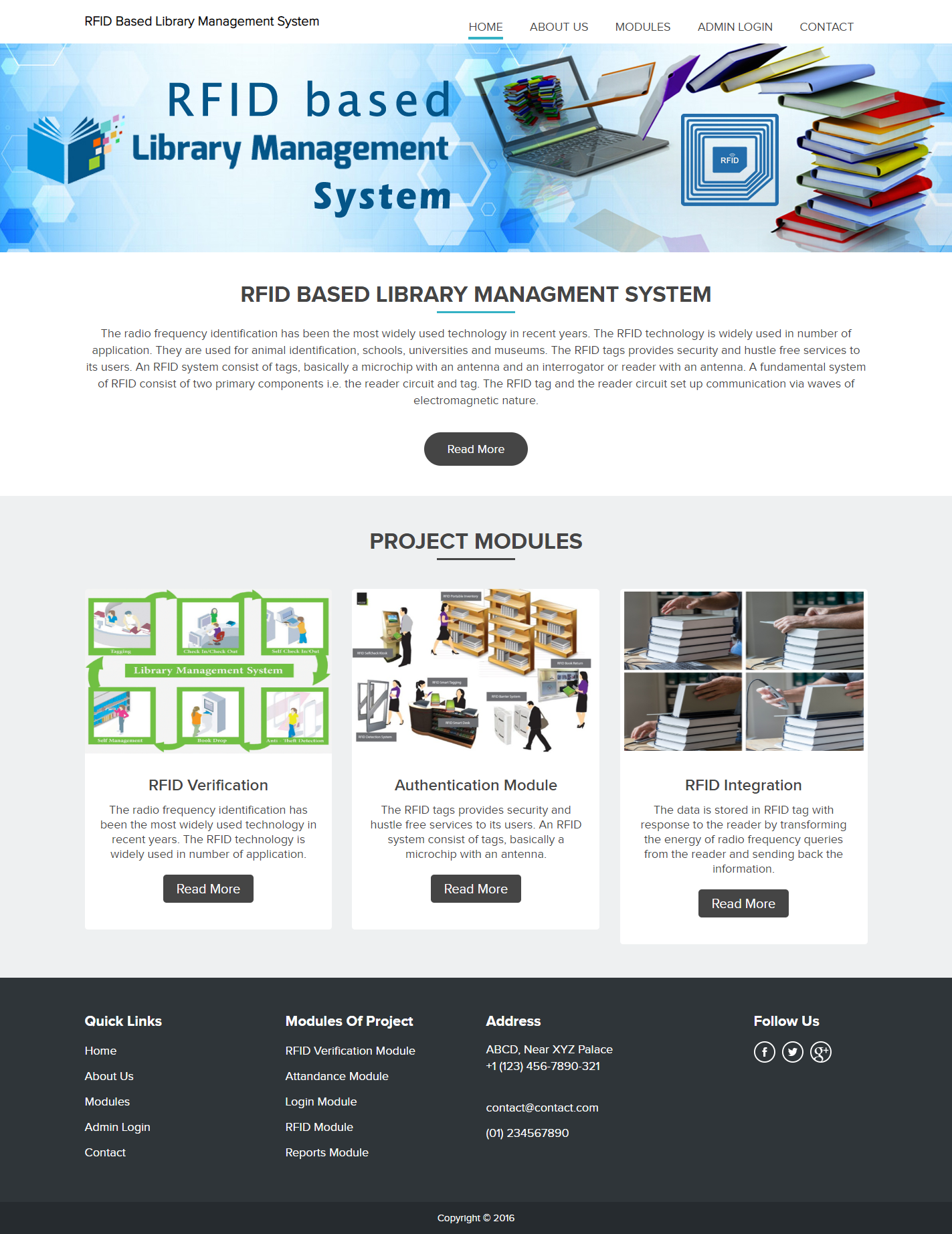RFID Based Library Management System